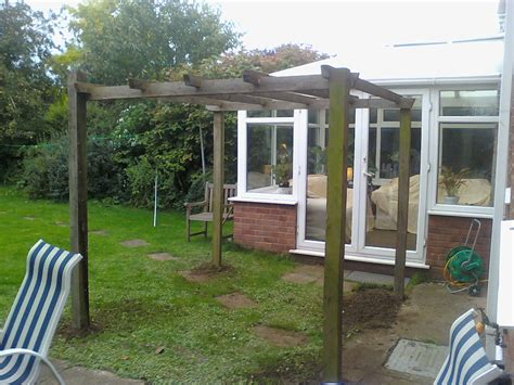 handy andy ruskington how to install a pergola