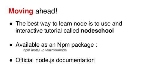 node js tutorial ppt node js for beginners