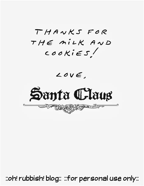 Thank You Letter Template To Santa Santa Letter Template Free Printable Thanks For The Milk Cookies Santa Reply Letter