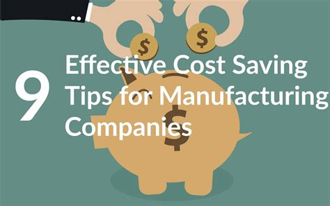 cost saving tips for a 9 effective cost saving tips for manufacturing companies