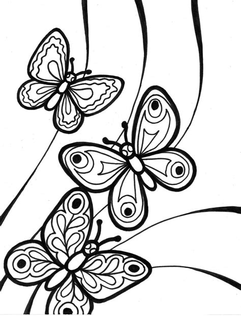 imagenes mariposa colorear free butterfly mosaic coloring pages