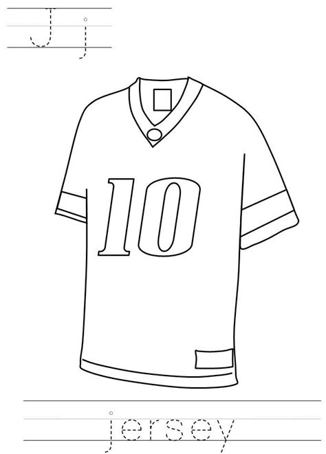 Football Jersey Coloring Page football jersey coloring page pictures to pin on