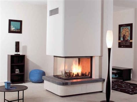3 Sided Fireplace Wood Burning by Wood Burning 3 Sided Fireplace Maddy By Cheminees Seguin