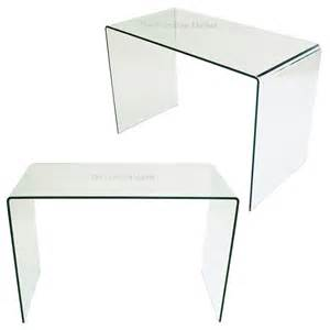 Glass Desk Geo Glass Small Clear Glass Desk