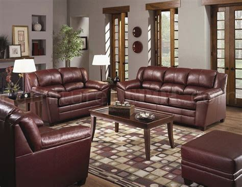 wine colored living room wine color bonded leather modern living room w wooden legs
