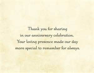 thank you card for anniversary gift search 50th anniversary ideas thank
