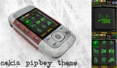 drawing themes for mobile phones nokia pipboy theme by santiagocs on deviantart