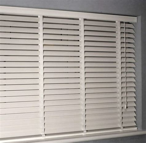 White Wood Window Blinds white wooden blinds bedrooms