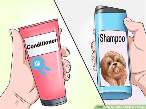 how to bathe a shih tzu how to bathe a shih tzu puppy 15 steps with pictures wikihow