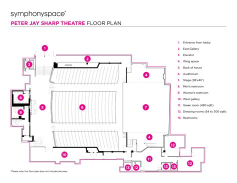 layout definition dance symphony space peter jay sharp theatre