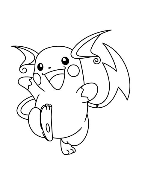 picture to color raichu coloring pages getcoloringpages gallery