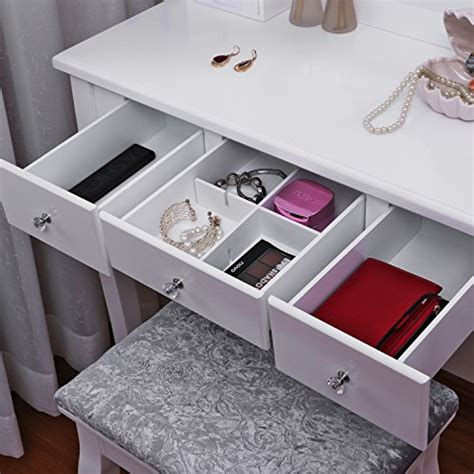 contemporary white bedroom vanity set table drawer bench bewishome vanity set with mirror cushioned stool