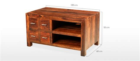 Cube Cabinet by Cube Sheesham Tv Cabinet Quercus Living