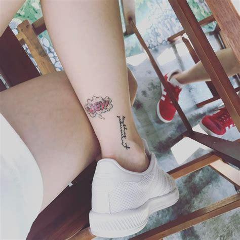 aoa s jimin has a hey tattoo now so here s a supercut