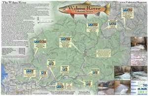 oregon river maps and fishing guide wilson river tillamook or fly fishing map