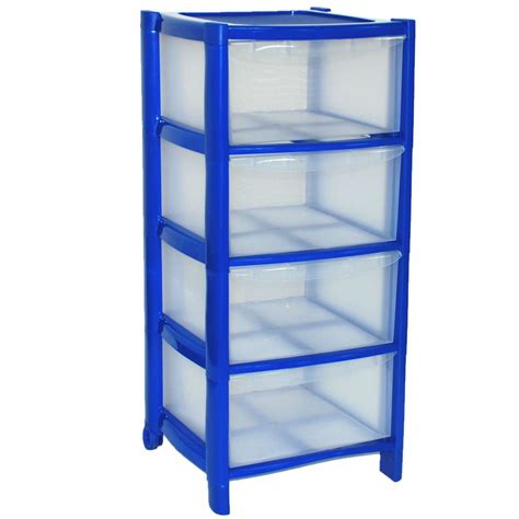Plastic Drawer Units On Wheels by 4 Drawer Plastic Large Tower Storage Drawers Chest