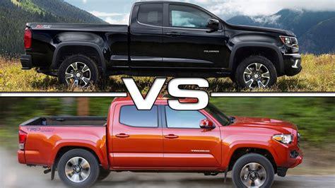 Chevrolet Colorado Vs Toyota Tacoma 2016 Toyota Tacoma Vs 2016 Chevrolet Colorado Autos Post