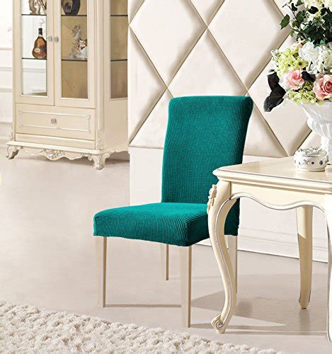 Blue Dining Room Chair Covers by Dyfun Jacquard Spandex Stretch Dining Room Chair Slipcovers 2 Blue Homegoodsreview
