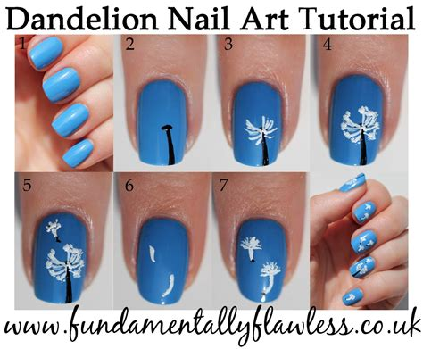 nail art design tutorial painting fundamentally flawless manicure monday dandelion nail