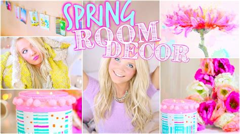 Home Decor Recycled Materials by Diy Spring Room Decor Inspired Youtube