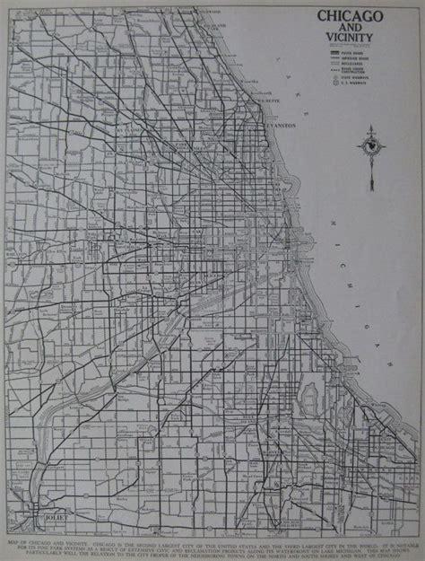 vintage chicago map vintage chicago city map 1937 chicago illinois antique