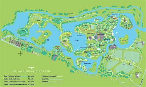 Botanic Gardens Map Botanic Garden Map Chicago Botanic Garden Map United States Of America