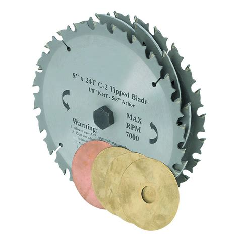 8 quot c2 tungsten carbide tipped 22 tooth dado blade set with saws and chippers