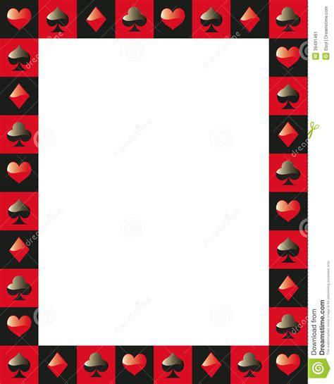 Poker Border Frame 3 Stock Vector   Image: 39491461