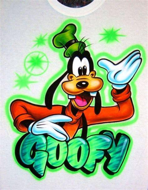 Kaos Goofy Disney Goofy 20 airbrush t shirt goofy block style name airbrush by