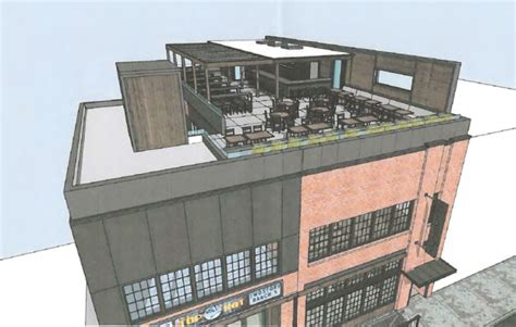 top hat bar top hat lounge applies for permit to build rooftop deck