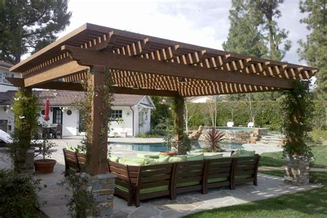 backyard covered pergola pergola plans gable roof furnitureplans