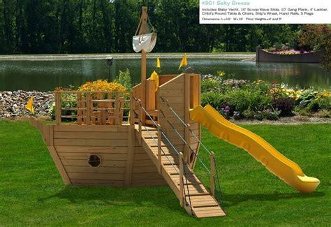 type pirate ship backyard playset design hideout pinterest