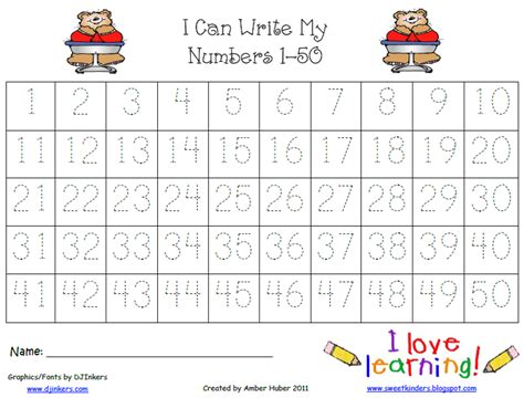 printable page of numbers 1 50 tracing numbers 1 20 trace numbers leaves 1