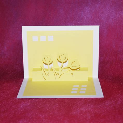 Origami Card - buy origami greeting card card orikiri tulip