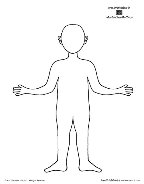 person template preschool person outline coloring page coloring home