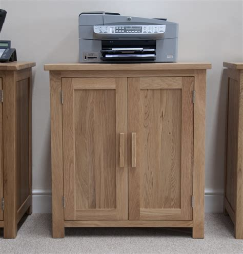 printer storage eton solid oak modern furniture home office printer