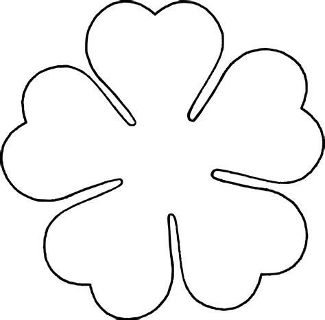 5 petal flower templates clipart best