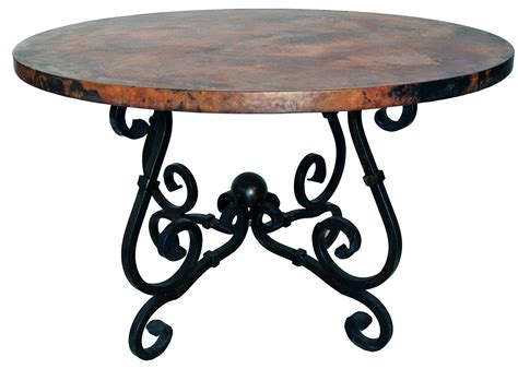 diogo cast iron base glass top accent table 24336 stunning copper wrought iron furniture by prima