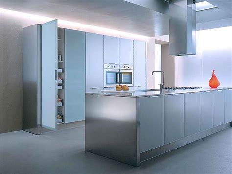 Aluminium Kitchen Designs 10 Stylish Aluminium Stainless Steel Kitchen Designs Decoholic