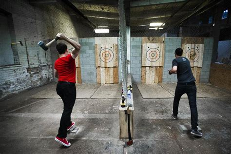 Backyard Axe Throwing Toronto where burying the hatchet can gain you points the globe and mail