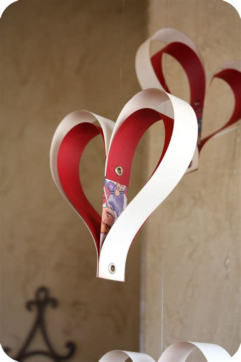 heart decorations for the home smilemonsters paper hearts