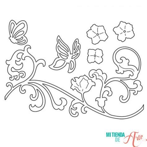 imagenes para pintar sobre madera troquel thinlits mariposa y vid de flor para sizzix