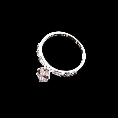 avon sterling silver cz marquis cut engagement ring size 7