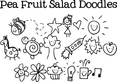 free doodle handwriting fonts pea fruit salad doodles