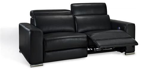 top grain leather power reclining sofa deluxe power reclining sofa in black top grain leather