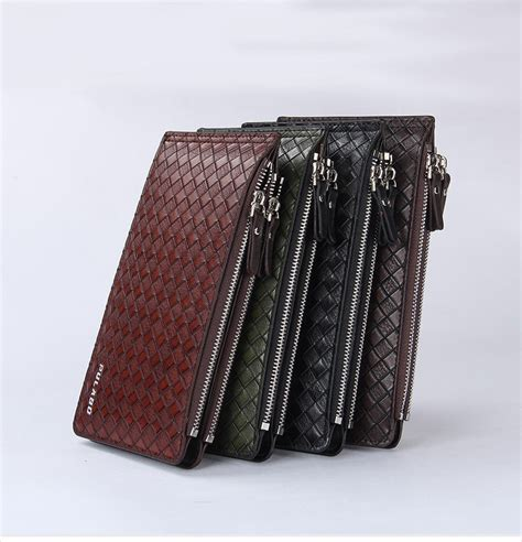 Tas Dompet Penyimpanan Memori Card 1 pria keren kasual panjang gaya pu kulit bifold dompet id window pemegang kartu tas tas kecil