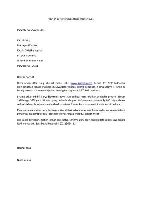 contoh surat lamaran kerja lulusan sma ben