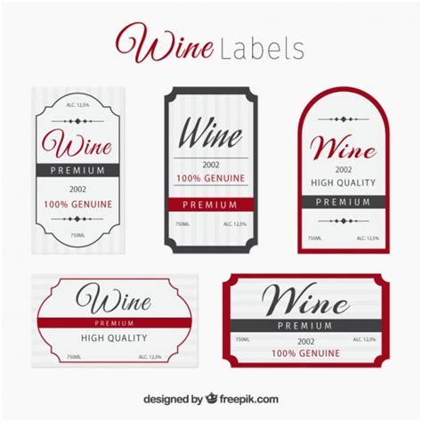 colecci 243 n de elegantes etiquetas de vino descargar