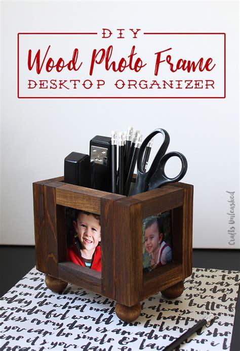 make your own desk organizer diy desk organizer wood photo frames consumer crafts