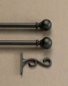 Curtains And Curtain Rods Curtain Rod Set With Finials Curtainworks